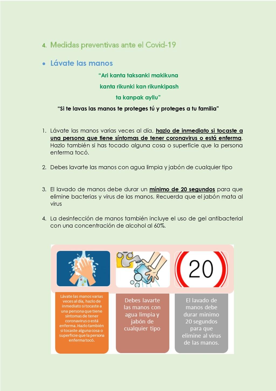 4. Medidas preventivas ante el Covid-19 • Lávat...