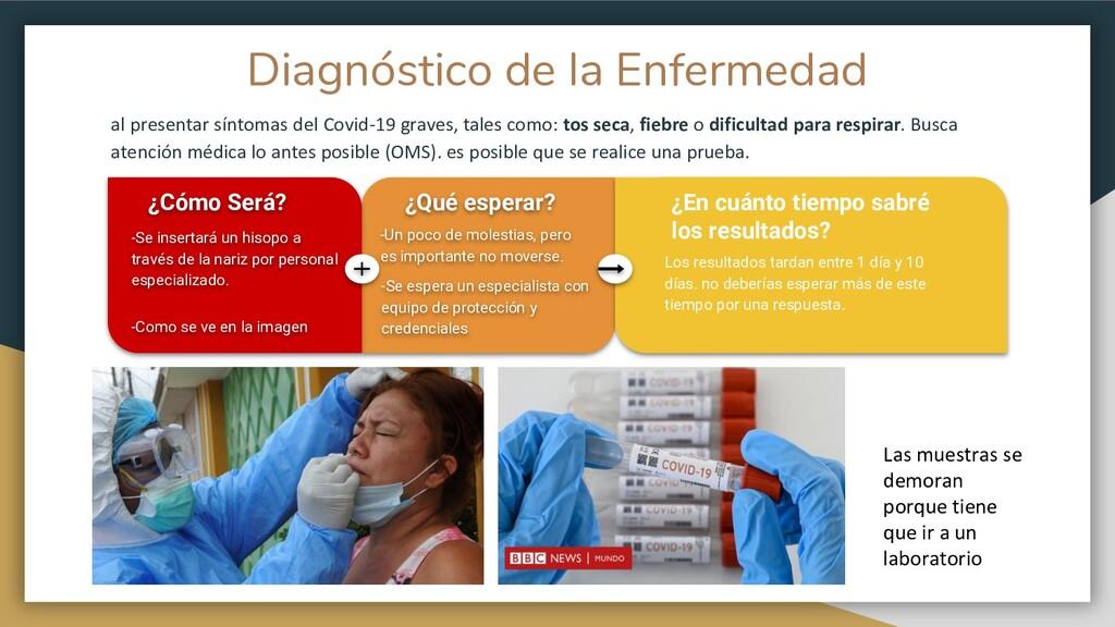 Diagnóstico de la Enfermedad al presentar sínto...