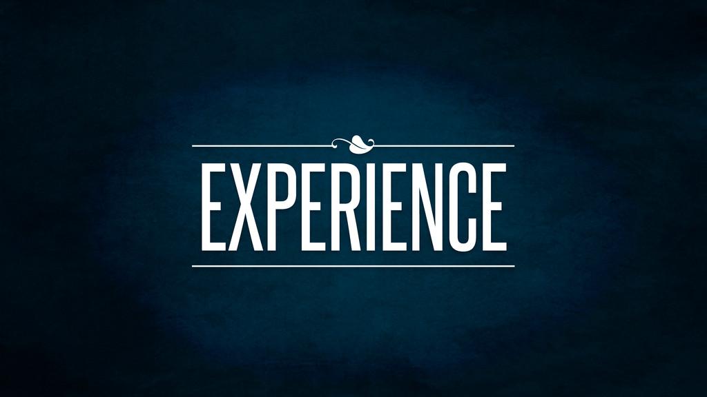 EXPERIENCE n