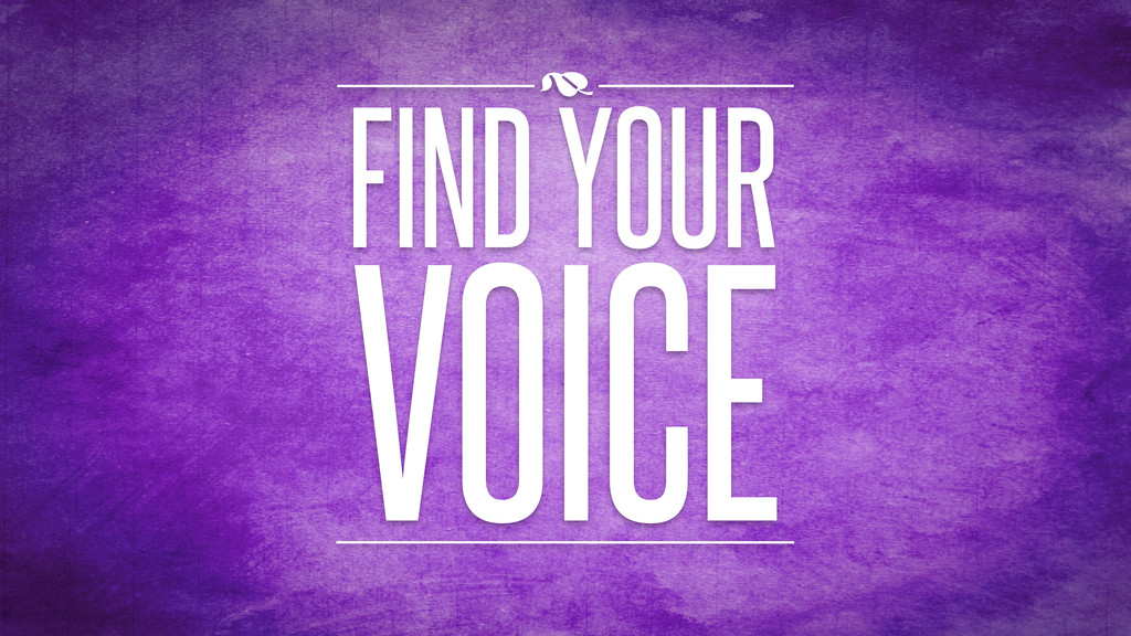 VOICE FIND YOUR )