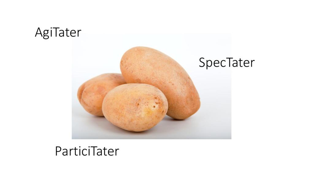 AgiTater SpecTater ParticiTater