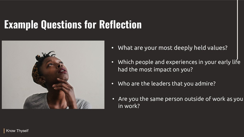 Example Questions for Reflection PRESENTATION T...