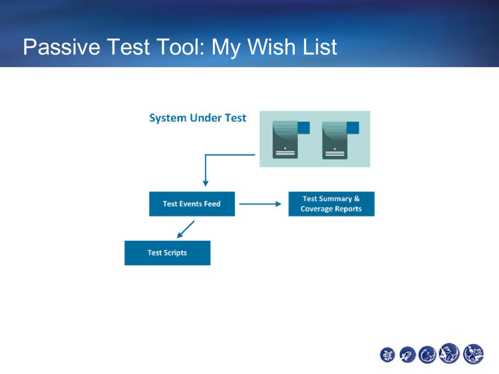 Passive Test Tool: My Wish List