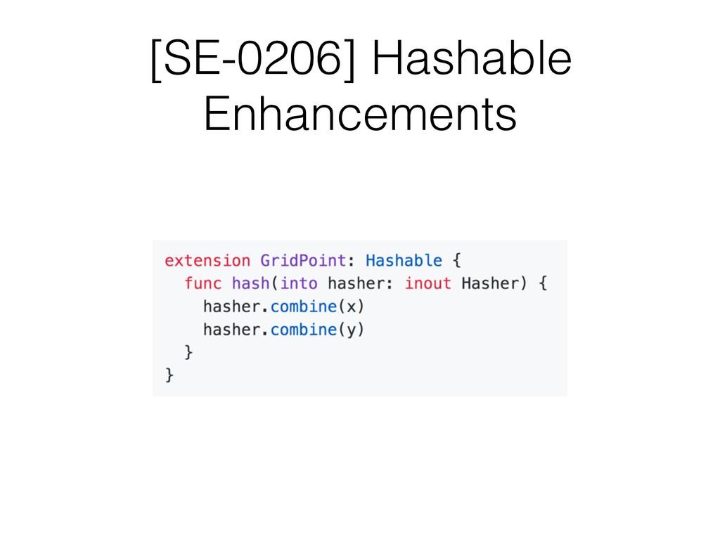 [SE-0206] Hashable Enhancements