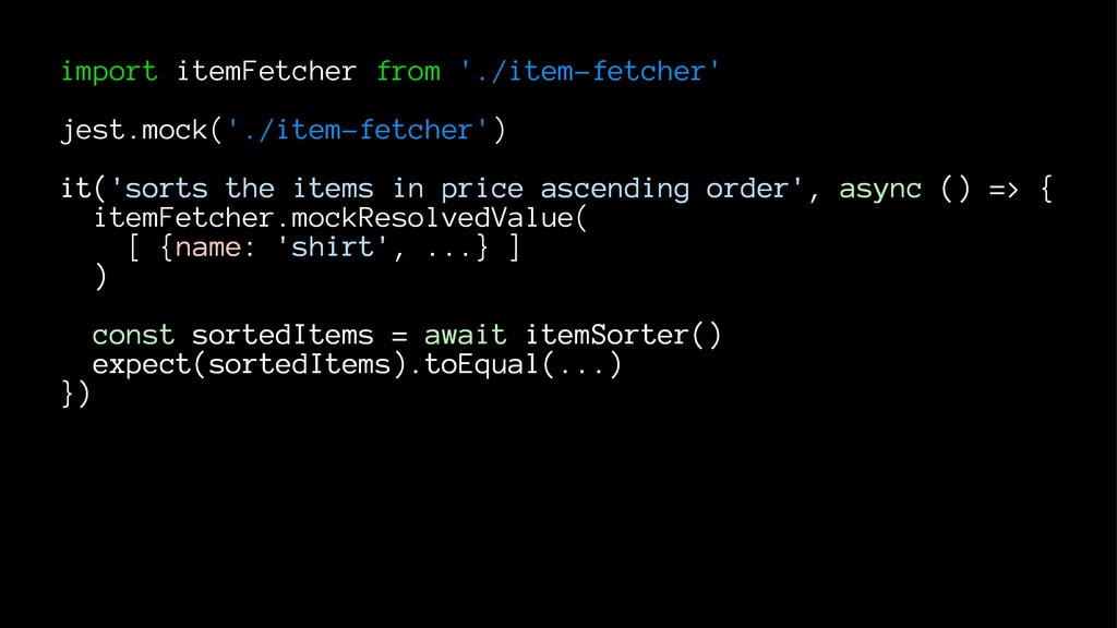 import itemFetcher from './item-fetcher' jest.m...