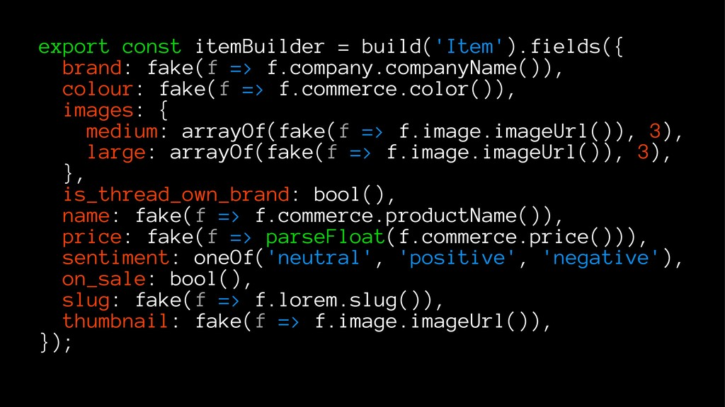 export const itemBuilder = build('Item').fields...