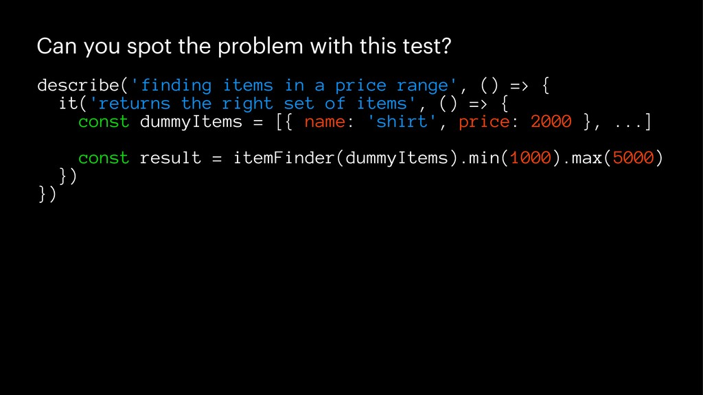 Can you spot the problem with this test? descri...