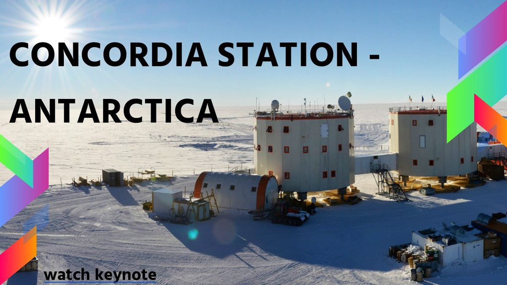CONCORDIA STATION - ANTARCTICA watch keynote