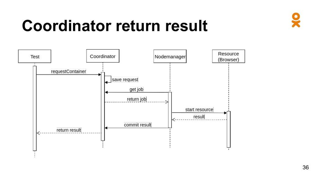 Coordinator return result 36