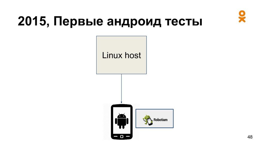 2015, Первые андроид тесты Linux host 48