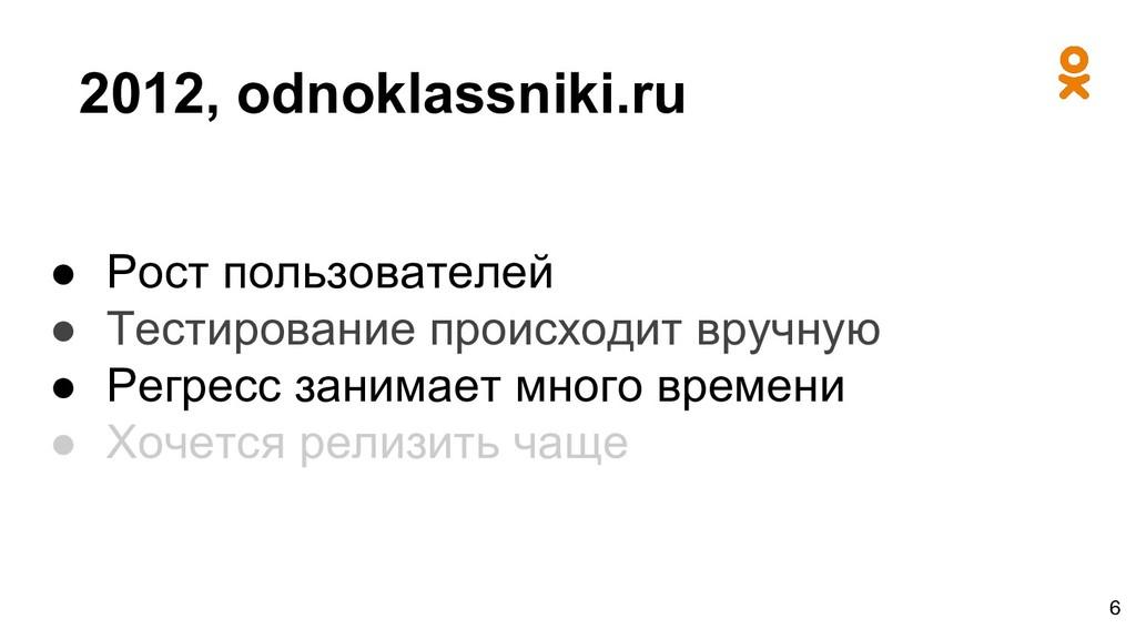 2012, odnoklassniki.ru ● Рост пользователей ● Т...