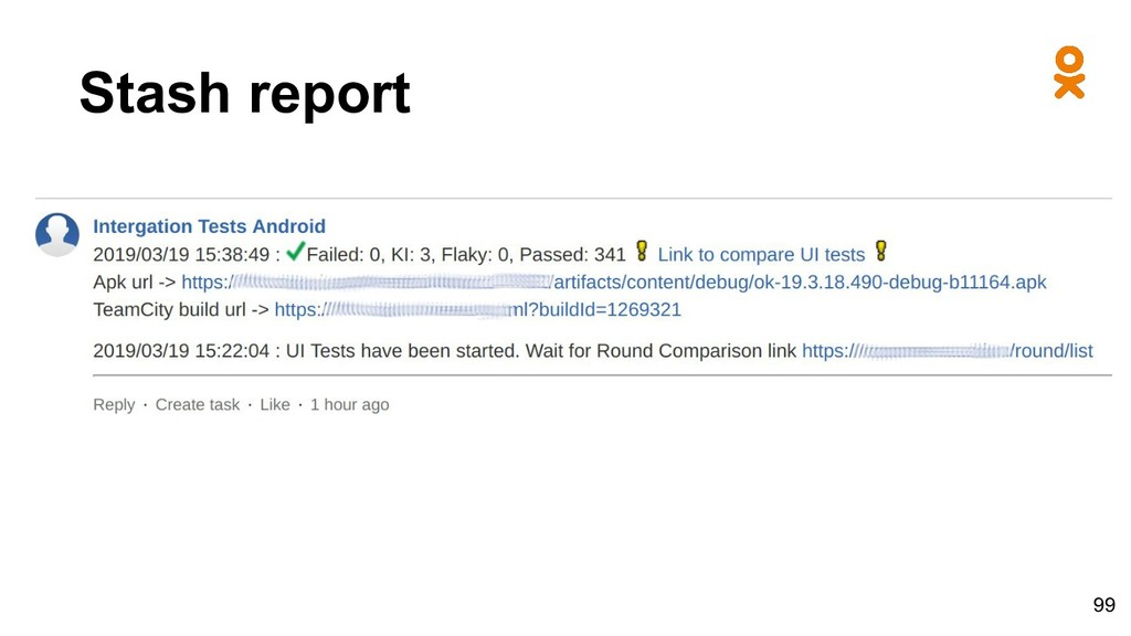 Stash report 99