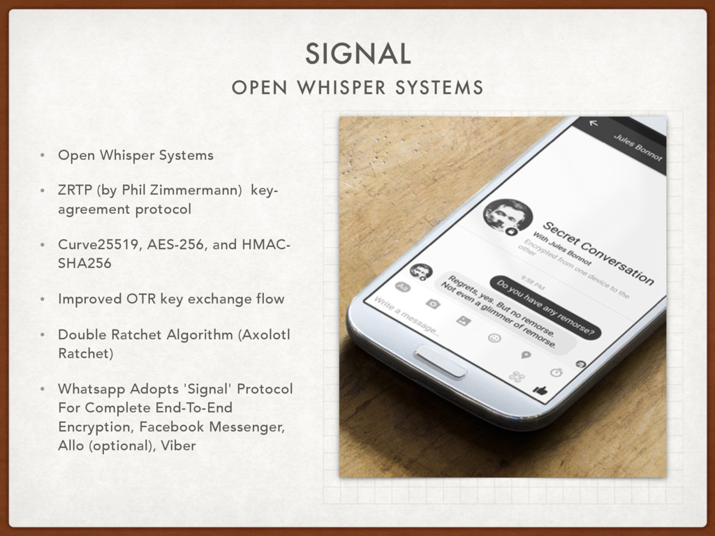 OPEN WHISPER SYSTEMS SIGNAL • Open Whisper Syst...