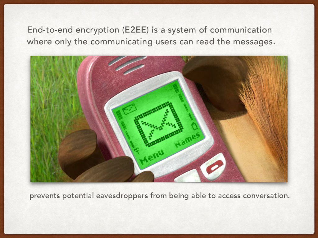 End-to-end encryption (E2EE) is a system of com...
