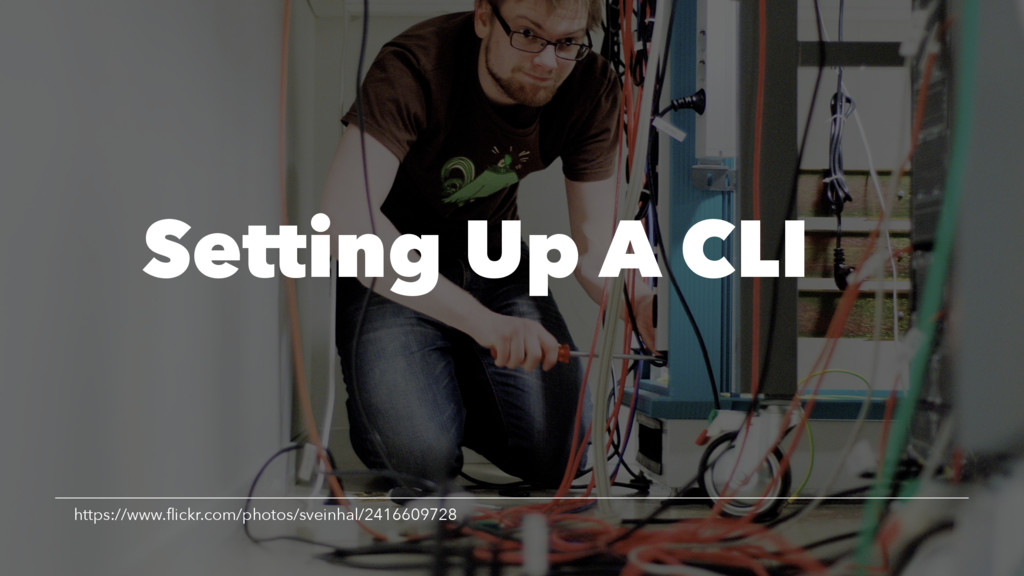 Setting Up A CLI https://www.flickr.com/photos/s...