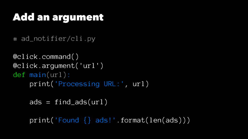 Add an argument # ad_notifier/cli.py @click.com...