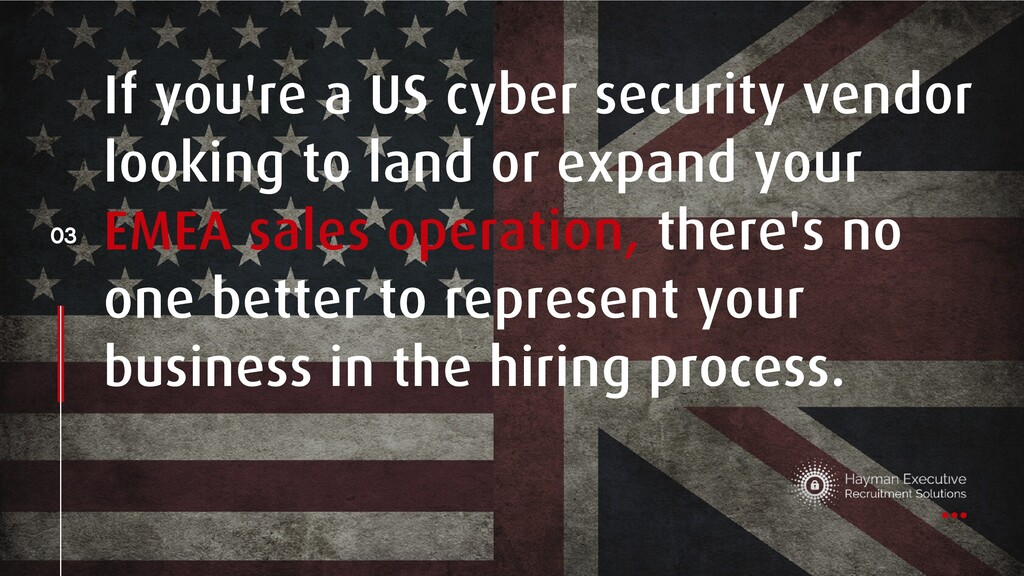 If you're a US cyber security vendor looking to...