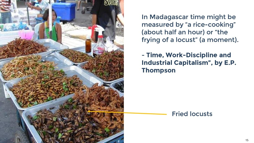 """In Madagascar time might be measured by """"a rice..."""