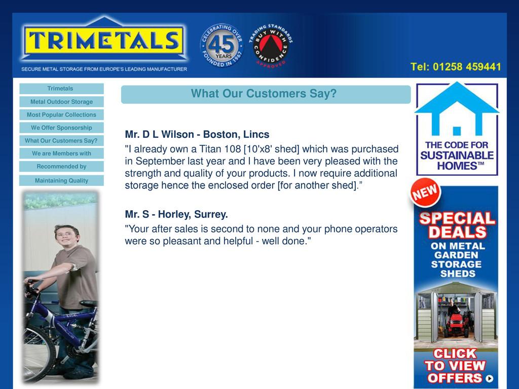 Trimetals Metal Outdoor Storage Most Popular Co...