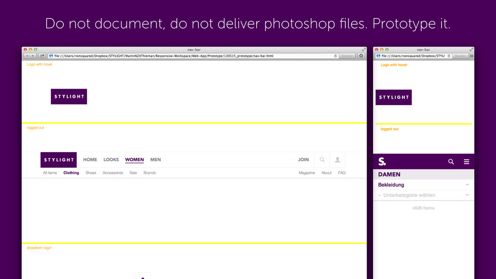 Do not document, do not deliver photoshop files....