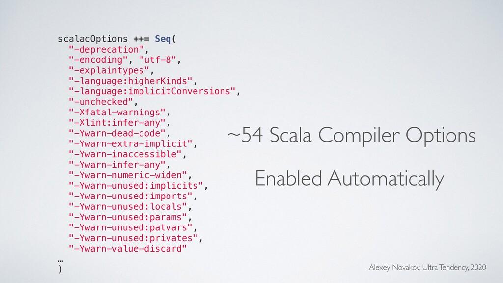 "scalacOptions ++= Seq( ""-deprecation"", ""-encodi..."