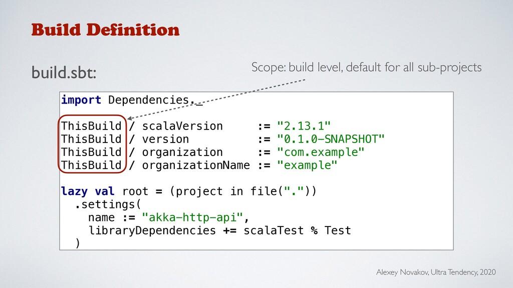 Build Definition build.sbt: Alexey Novakov, Ult...