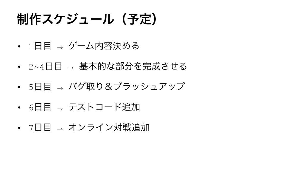 ੍࡞εέδϡʔϧʢ༧ఆʣ • 1 → ήʔϜ༰ܾΊΔ • 2~4 → جຊతͳ෦Λ...