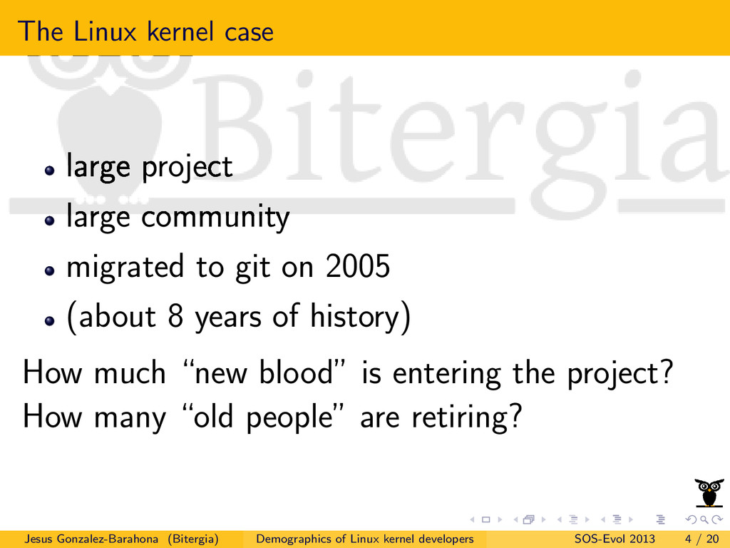 The Linux kernel case large project large commu...
