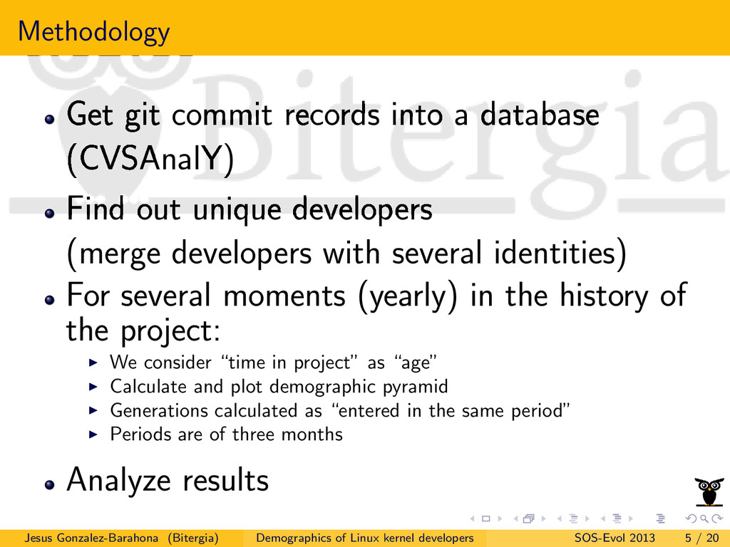 Methodology Get git commit records into a datab...