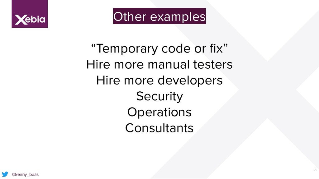 """24 @kenny_baas Other examples """"Temporary code o..."""