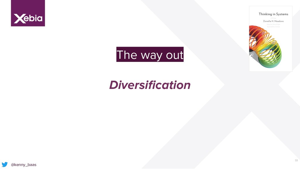 33 @kenny_baas The way out Diversification
