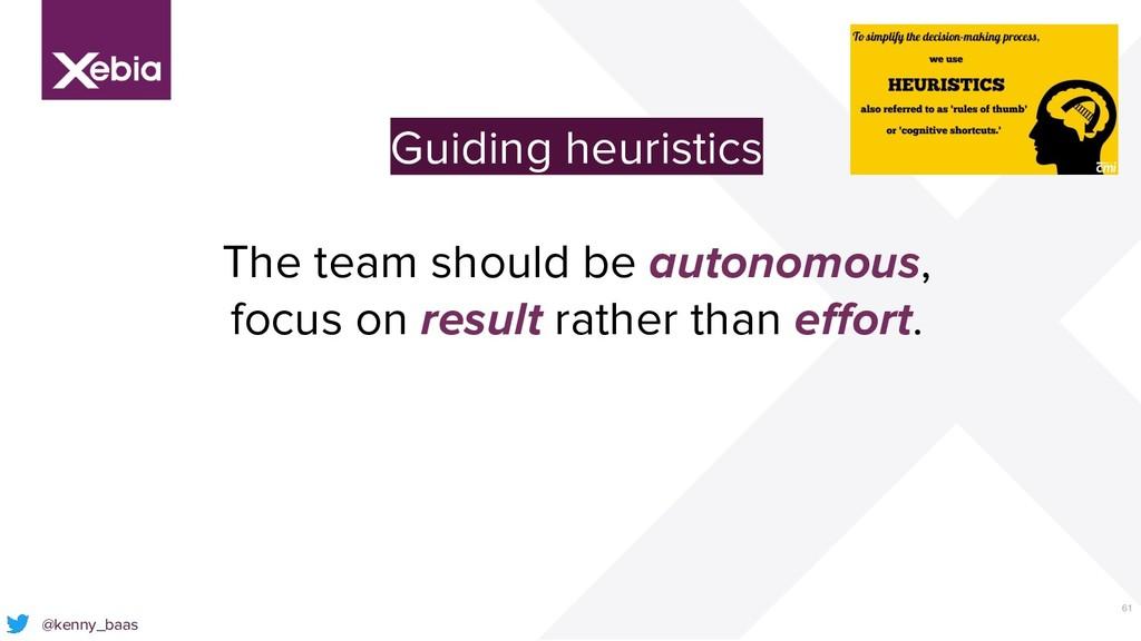61 @kenny_baas Guiding heuristics The team shou...