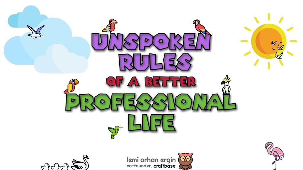 unspoken lemi orhan ergin co-founder, rules pro...