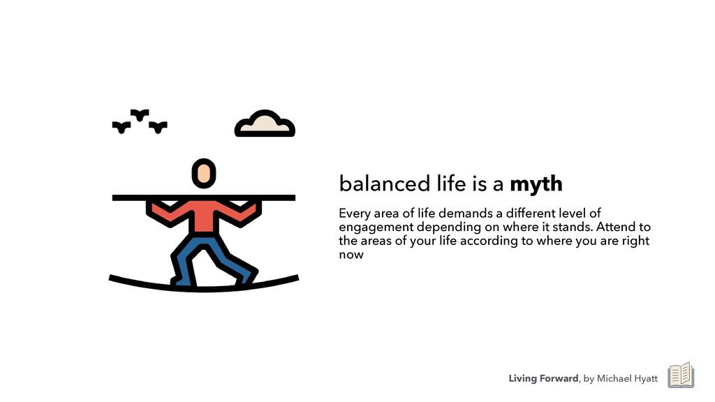 balanced life is a myth Every area of life dema...