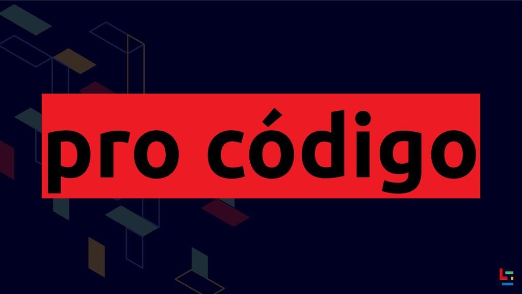 pro código