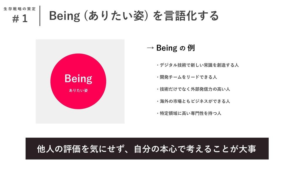 Being (ありたい姿) を言語化する #1 他人の評価を気にせず、自分の本心で考えることが...