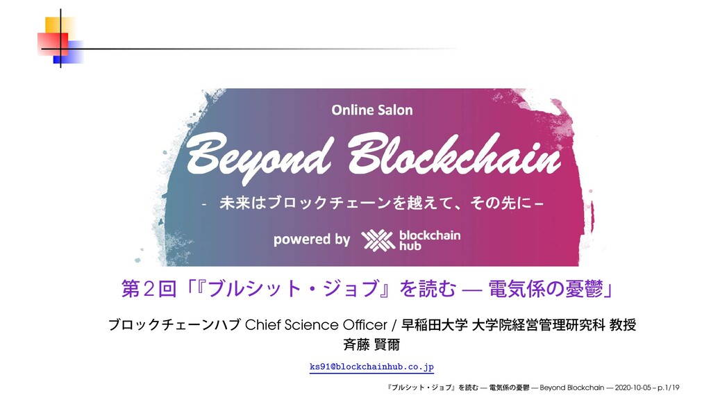 2 — Chief Science Officer / ks91@blockchainhub.c...