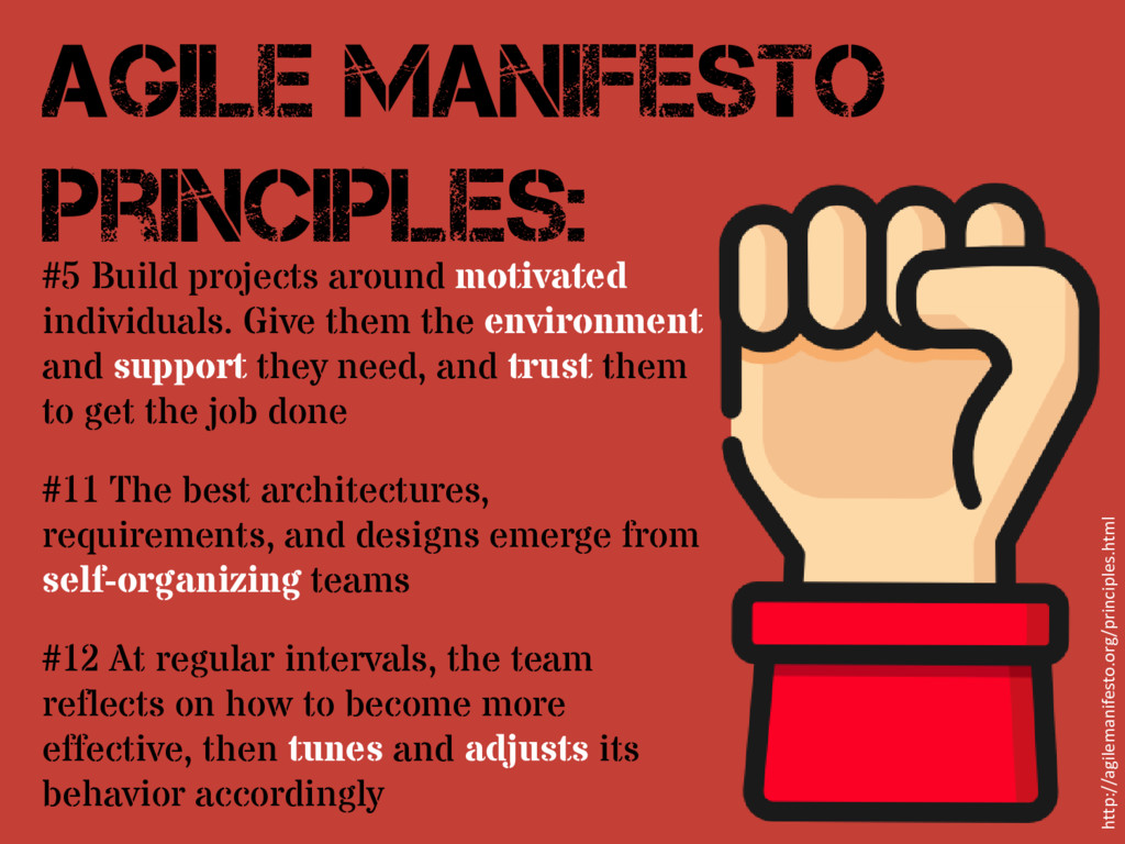 #5 Build projects around motivated individuals....