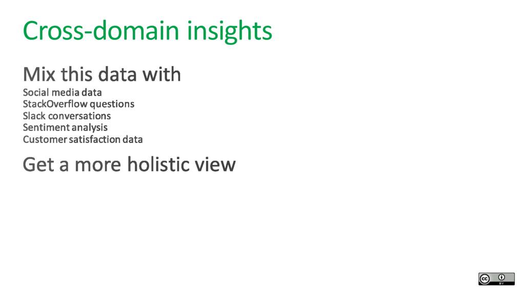 Cross-domain insights
