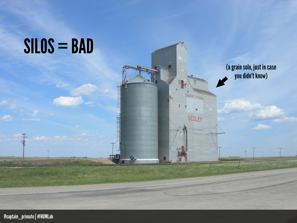 SILOS = BAD (a grain solo, just in case you did...