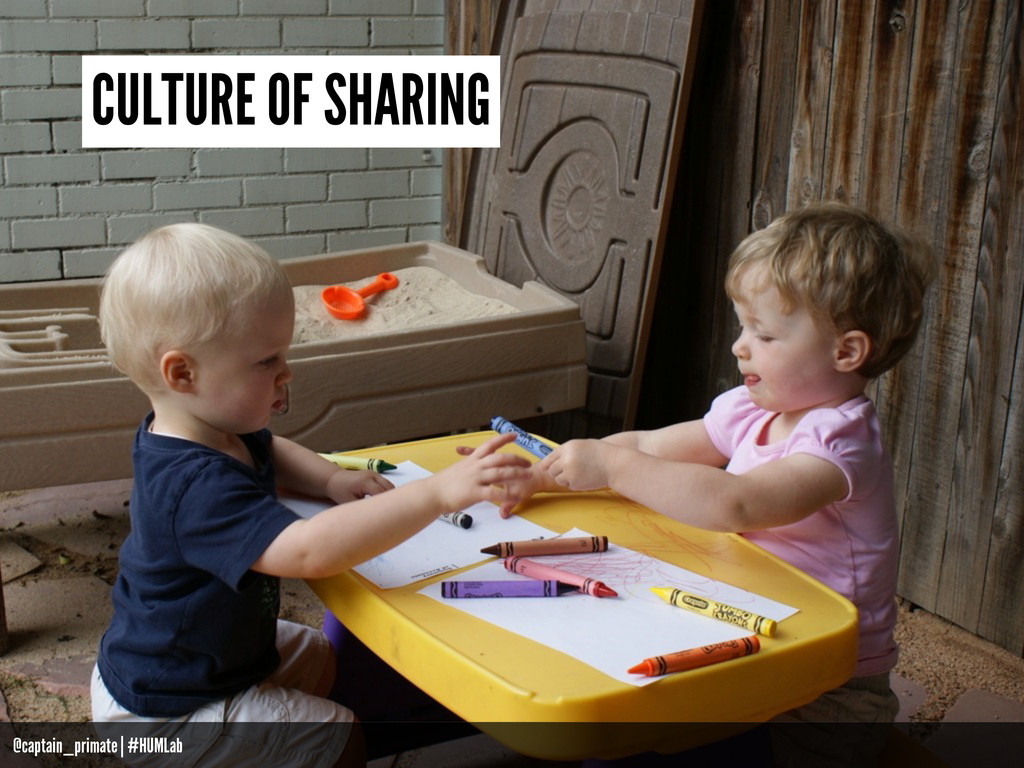 CULTURE OF SHARING @captain_primate | #HUMLab