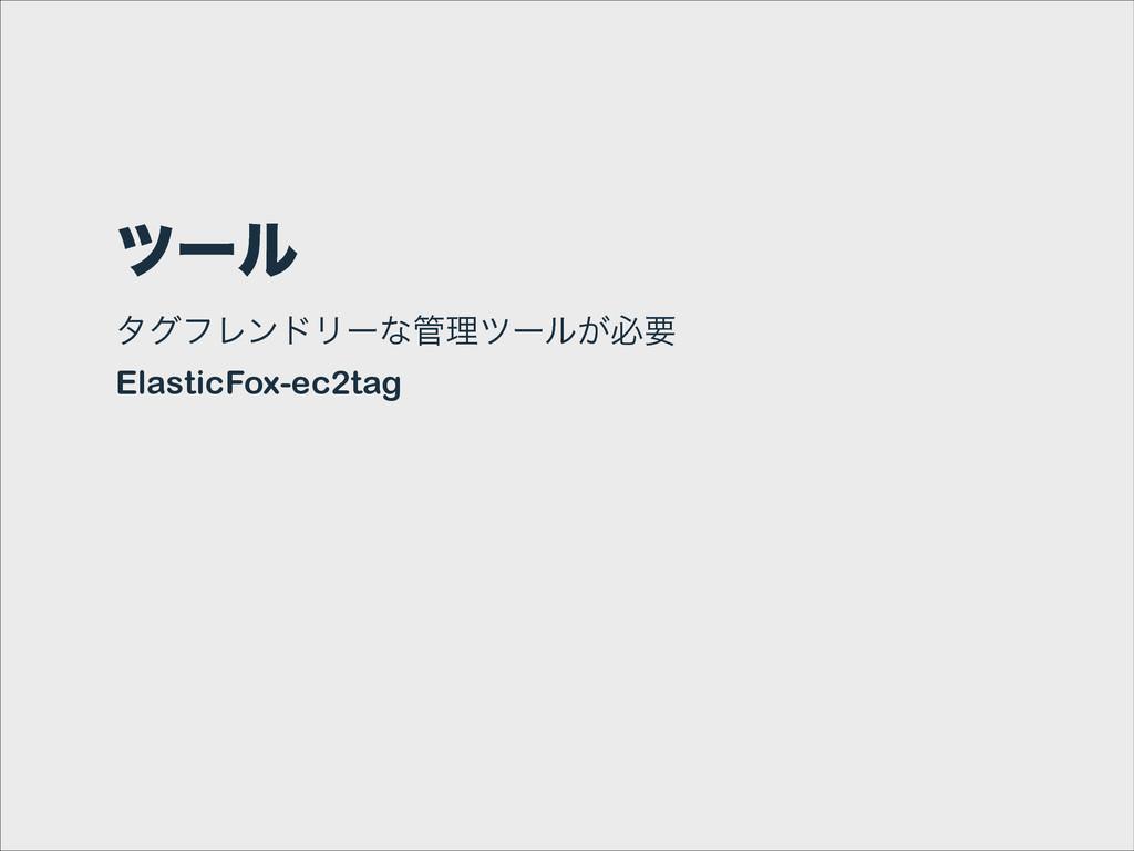πʔϧ λάϑϨϯυϦʔͳཧπʔϧ͕ඞཁ ElasticFox-ec2tag