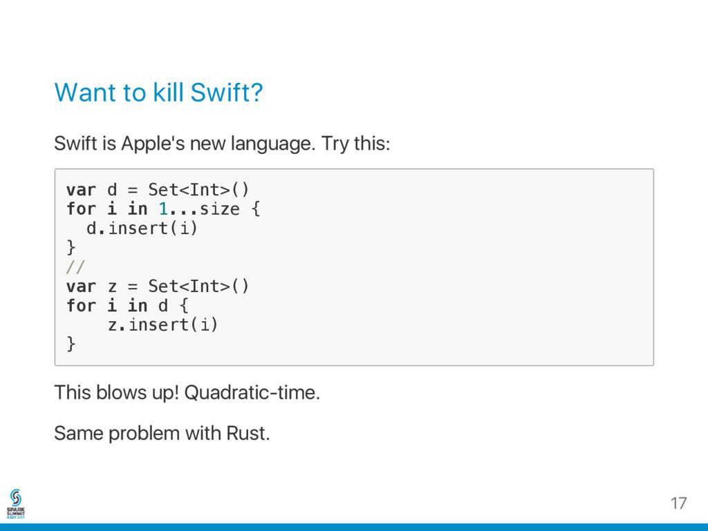 Want to kill Swift? Swift is Apple's new langua...
