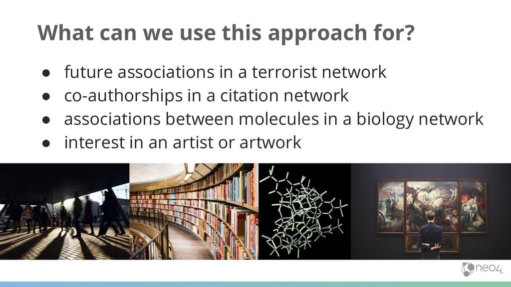 ● future associations in a terrorist network ● ...