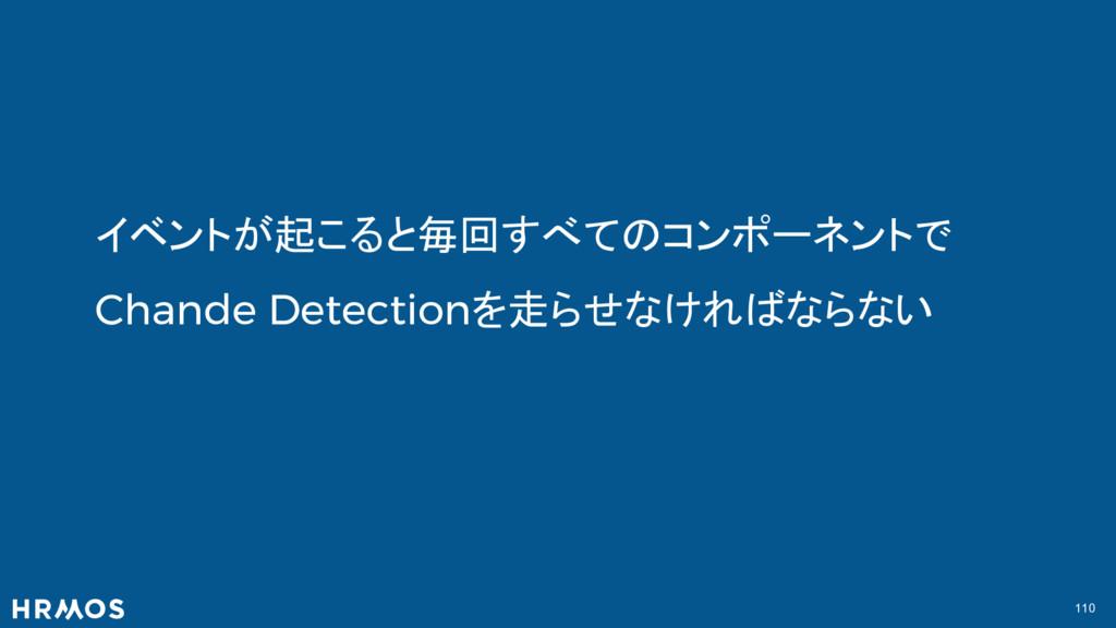 110 イベントが起こると毎回すべてのコンポーネントで Chande Detectionを走ら...