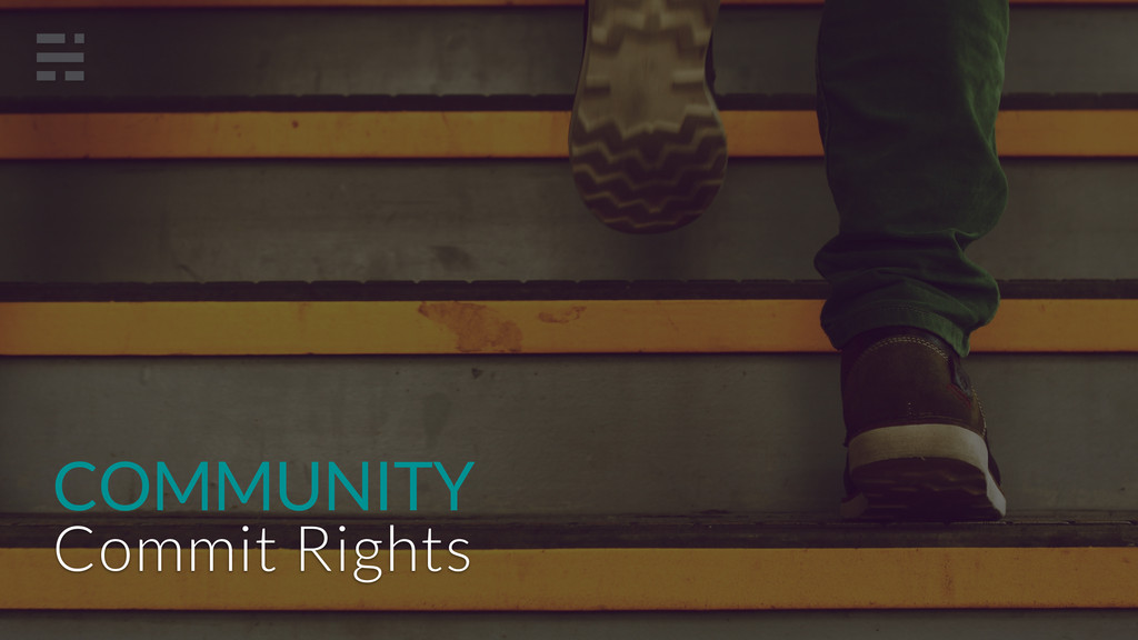 COMMUNITY Commit Rights