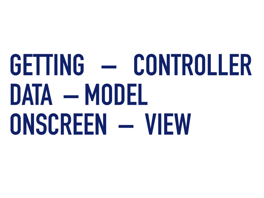 GETTING – CONTROLLER DATA – MODEL ONSCREEN – VI...