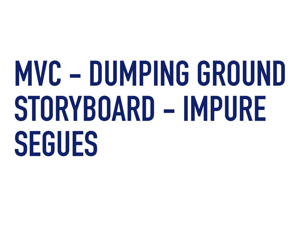 MVC - DUMPING GROUND STORYBOARD - IMPURE SEGUES