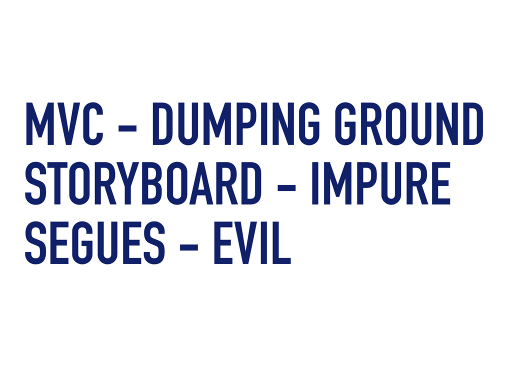MVC - DUMPING GROUND STORYBOARD - IMPURE SEGUES...