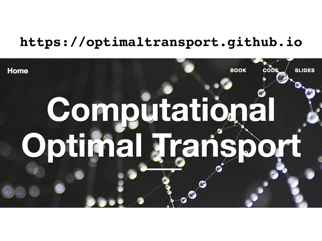 https://optimaltransport.github.io